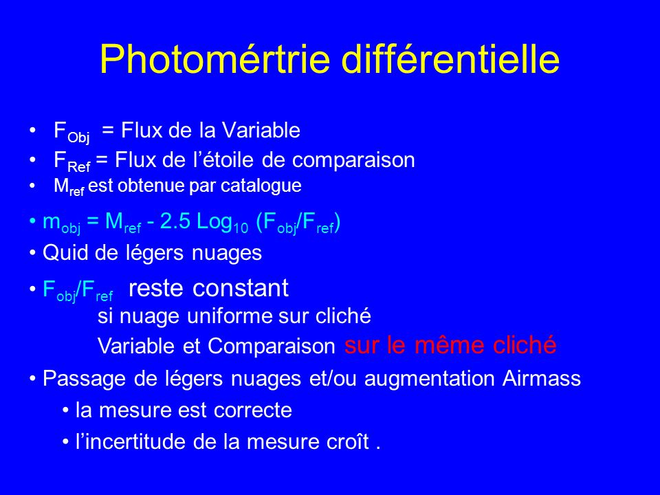 Photomértrie différentielle