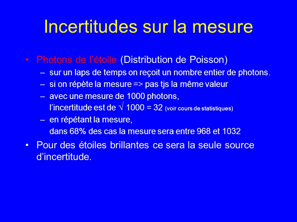 Incertitudes sur la mesure