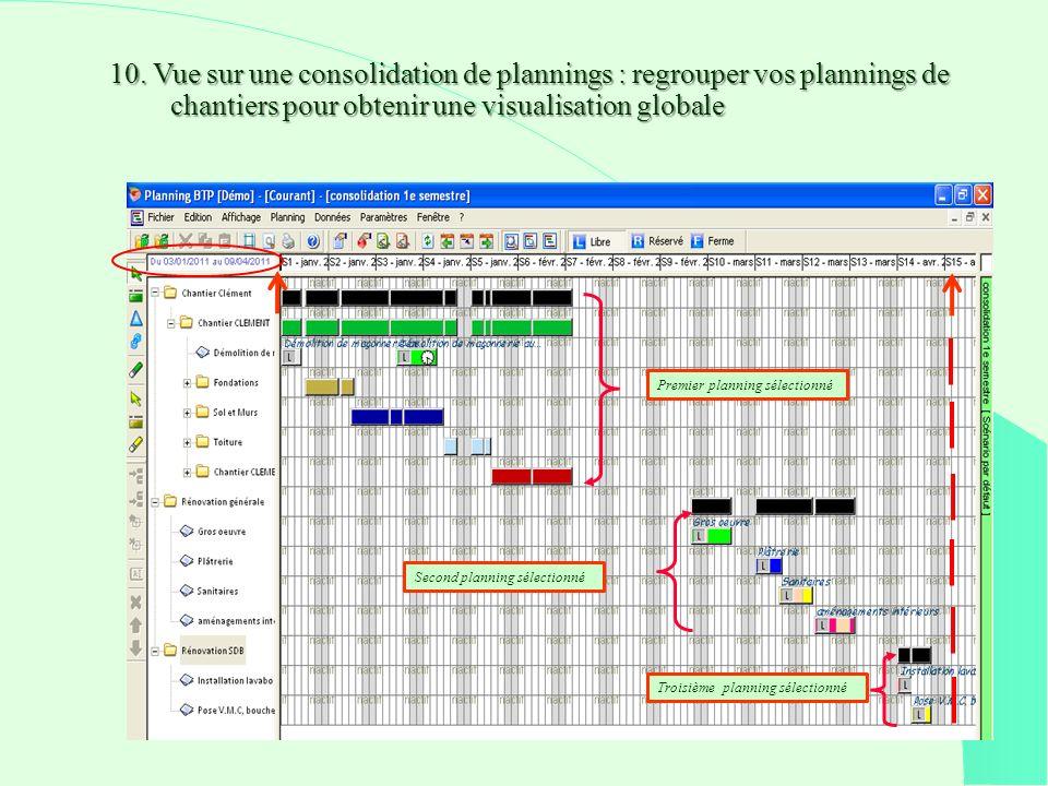 10. Vue sur une consolidation de plannings : regrouper vos plannings de chantiers pour obtenir une visualisation globale