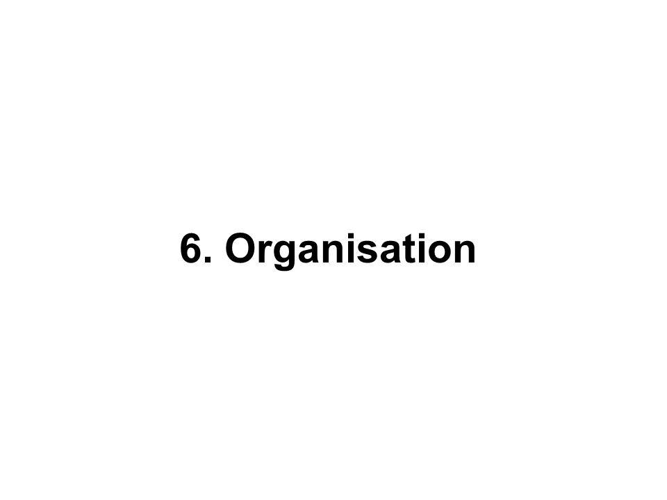 6. Organisation