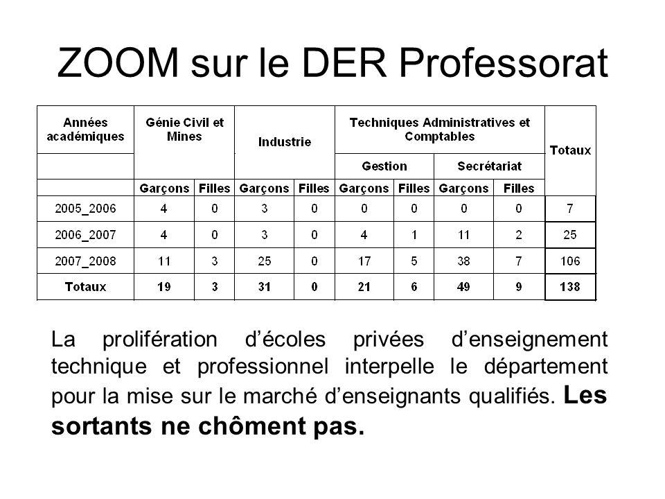 ZOOM sur le DER Professorat