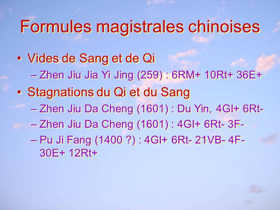 Formules magistrales chinoises