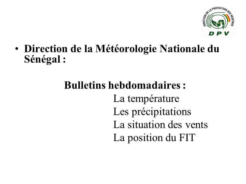 Direction de la Météorologie Nationale du Sénégal :
