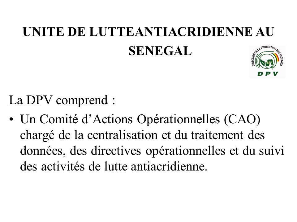 UNITE DE LUTTEANTIACRIDIENNE AU SENEGAL