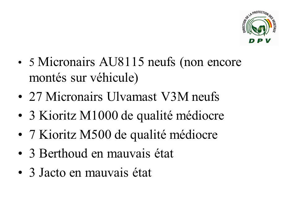 27 Micronairs Ulvamast V3M neufs 3 Kioritz M1000 de qualité médiocre