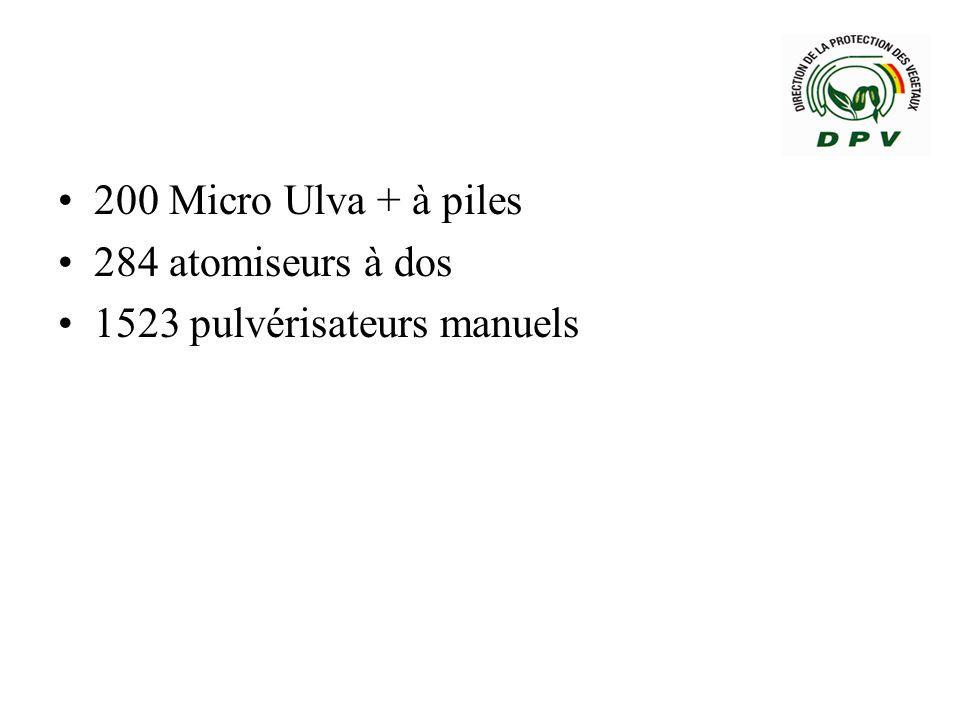 200 Micro Ulva + à piles 284 atomiseurs à dos 1523 pulvérisateurs manuels
