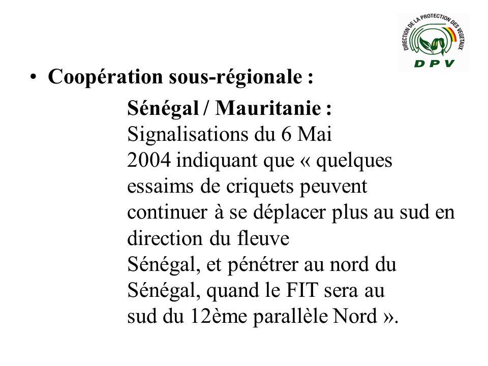 Coopération sous-régionale :