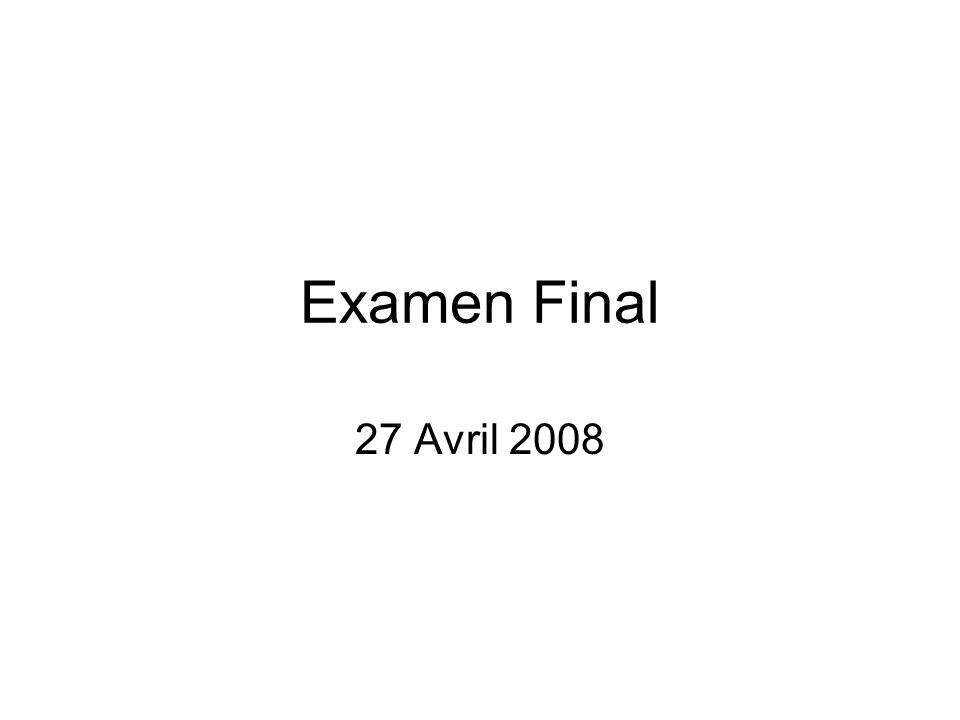 Examen Final 27 Avril 2008