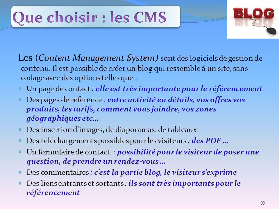 Que choisir : les CMS
