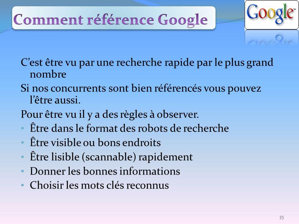 Comment référence Google
