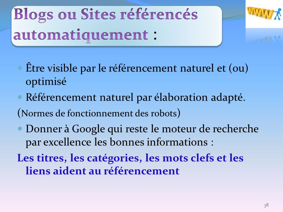 Blogs ou Sites référencés automatiquement :
