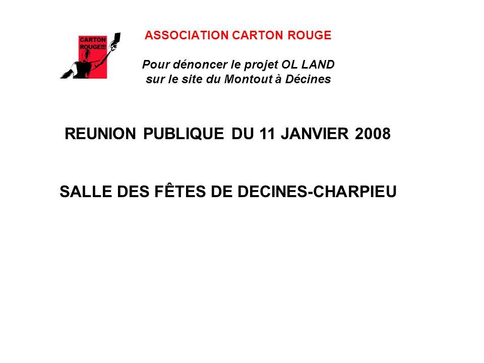 REUNION PUBLIQUE DU 11 JANVIER 2008