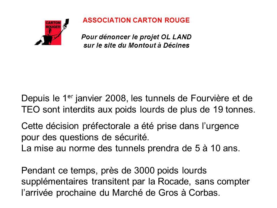ASSOCIATION CARTON ROUGE Pour dénoncer le projet OL LAND sur le site du Montout à Décines