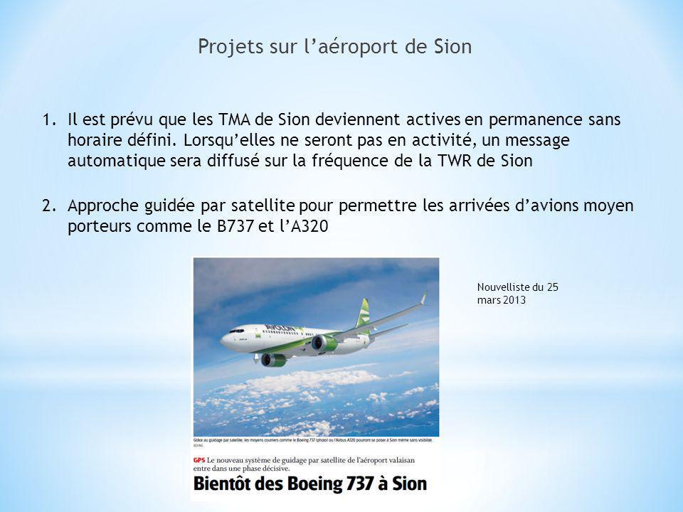 Projets sur l'aéroport de Sion