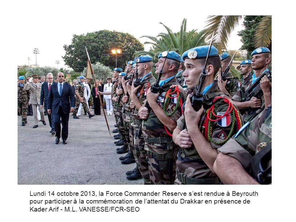 Lundi 14 octobre 2013, la Force Commander Reserve s'est rendue à Beyrouth pour participer à la commémoration de l'attentat du Drakkar en présence de Kader Arif - M.L.