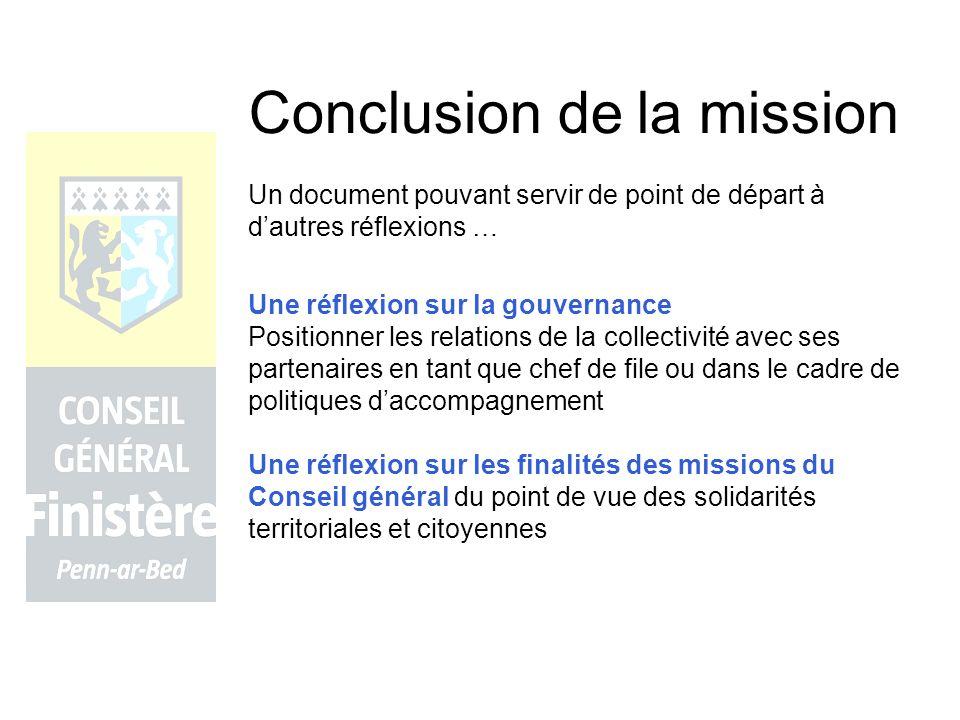 Conclusion de la mission