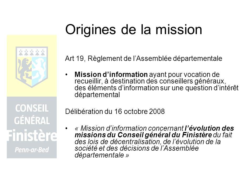 Origines de la mission Art 19, Règlement de l'Assemblée départementale