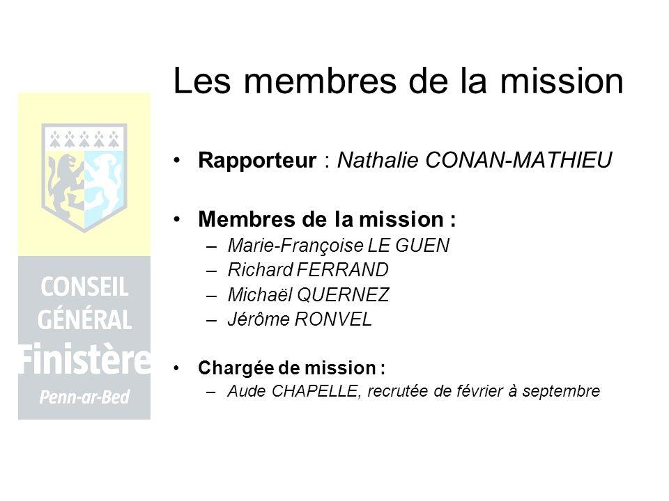 Les membres de la mission