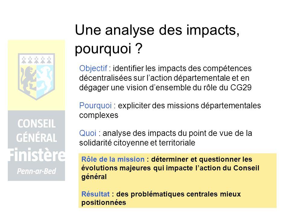 Une analyse des impacts, pourquoi