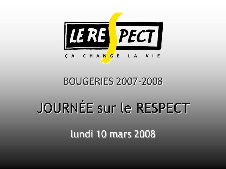 BOUGERIES 2007-2008 JOURNÉE sur le RESPECT lundi 10 mars 2008