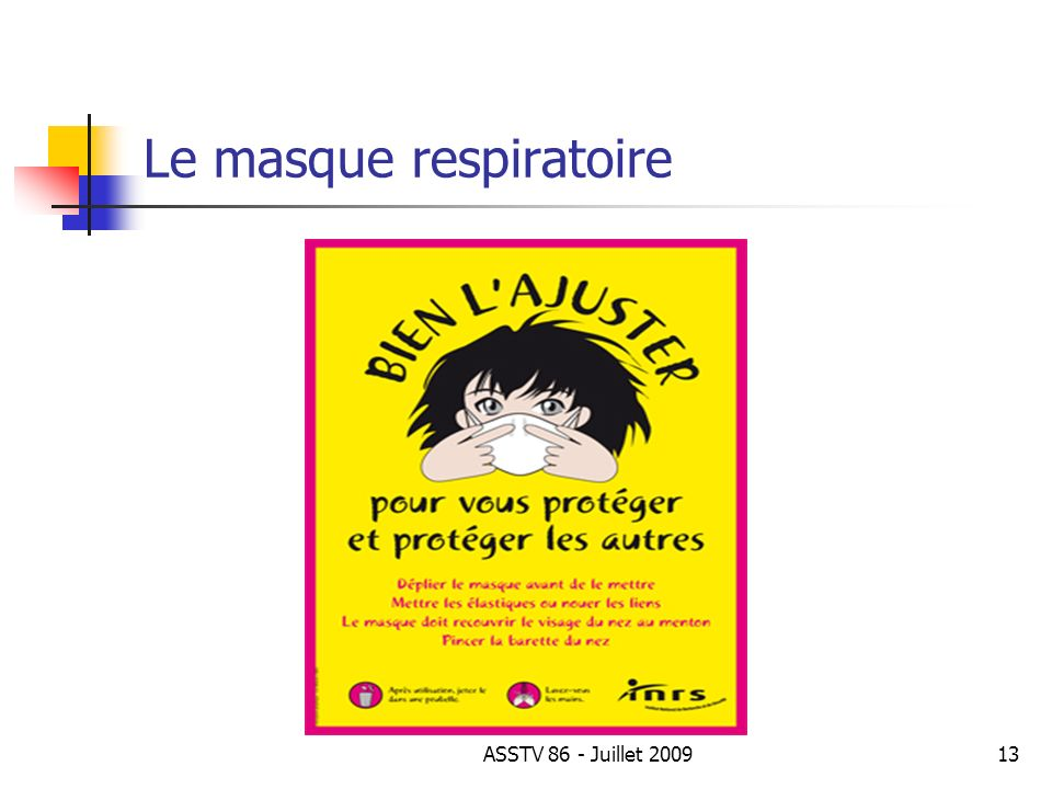 Le masque respiratoire