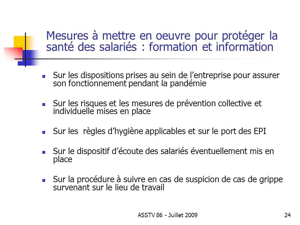 Mesures à mettre en oeuvre pour protéger la santé des salariés : formation et information