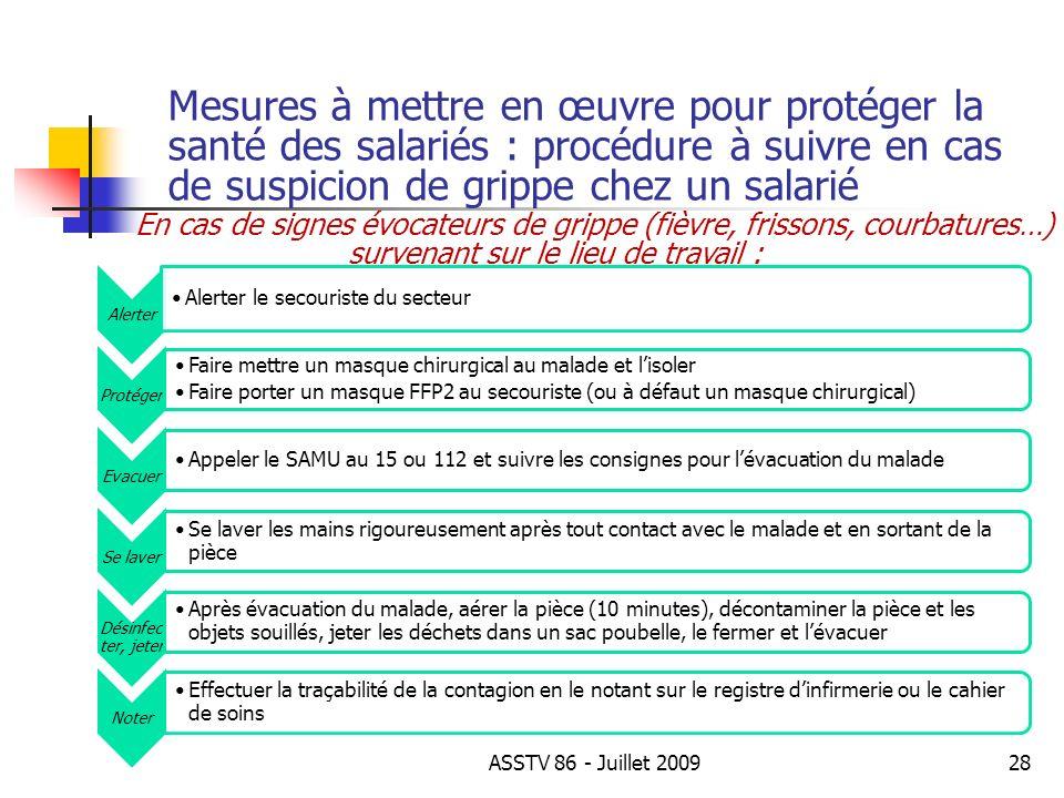 Mesures à mettre en œuvre pour protéger la santé des salariés : procédure à suivre en cas de suspicion de grippe chez un salarié