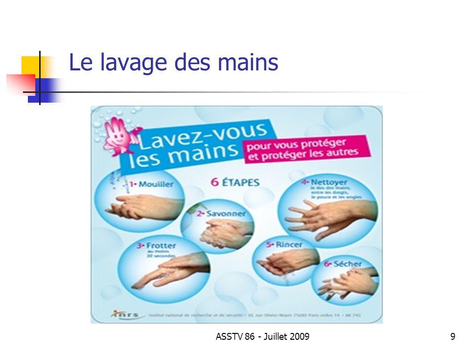 Le lavage des mains ASSTV 86 - Juillet 2009