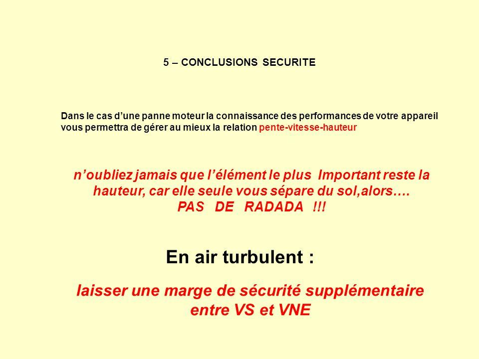 5 – CONCLUSIONS SECURITE
