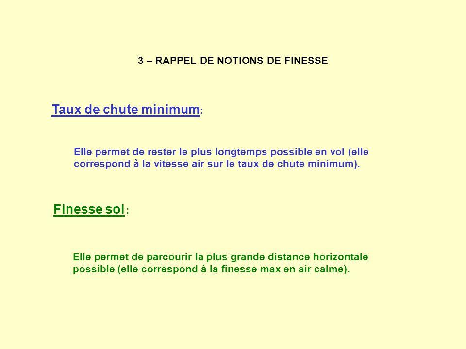 3 – RAPPEL DE NOTIONS DE FINESSE