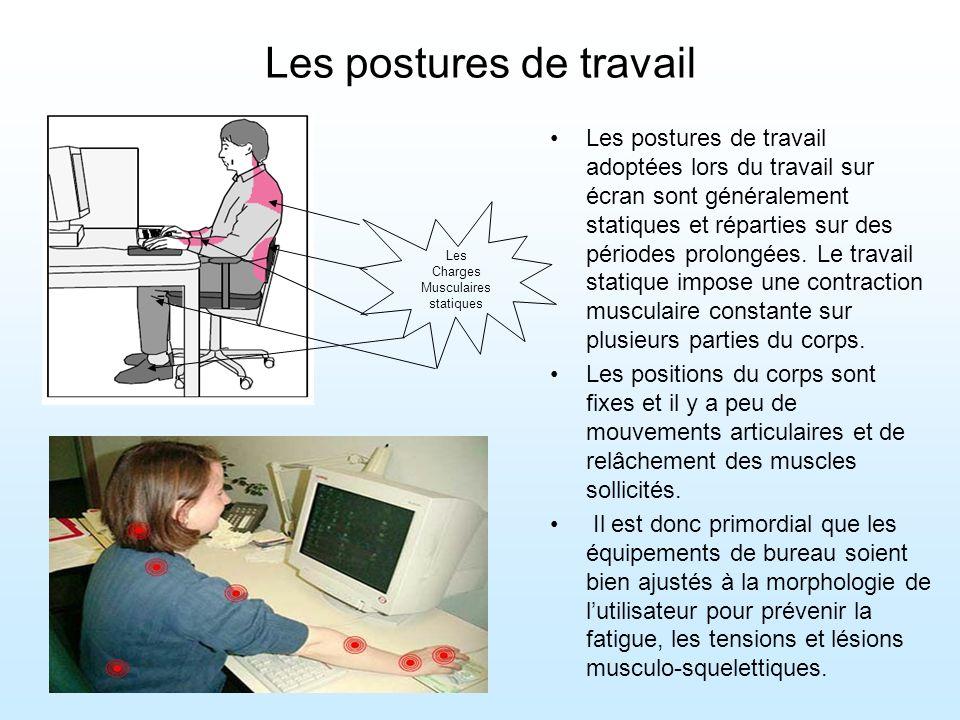Les postures de travail