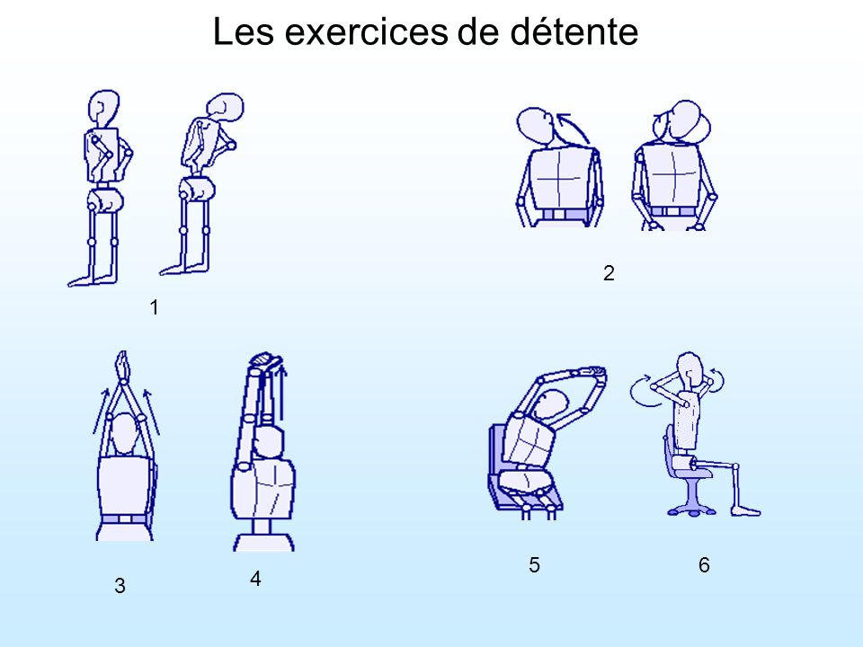 Les exercices de détente
