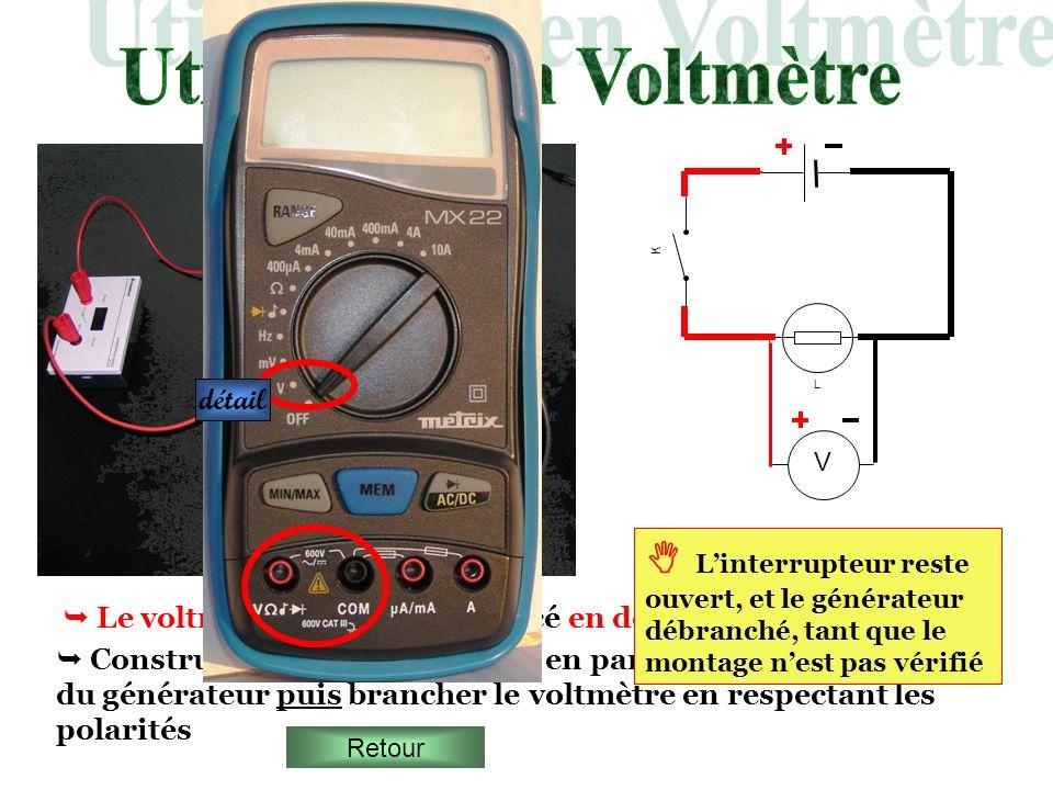 Utilisation en Voltmètre