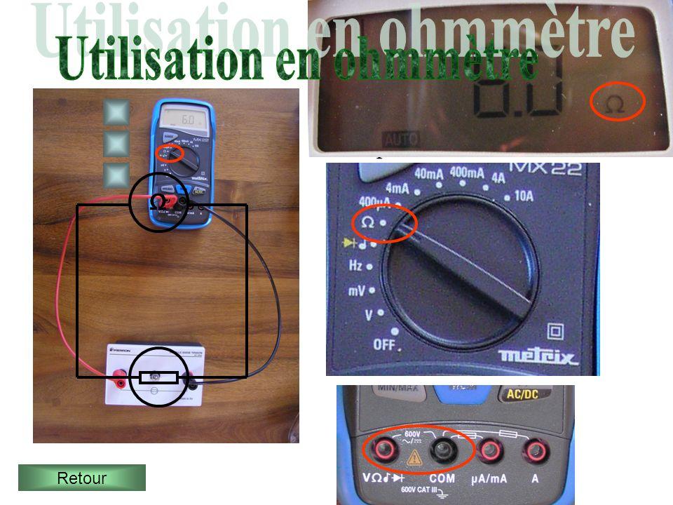 Utilisation en ohmmètre