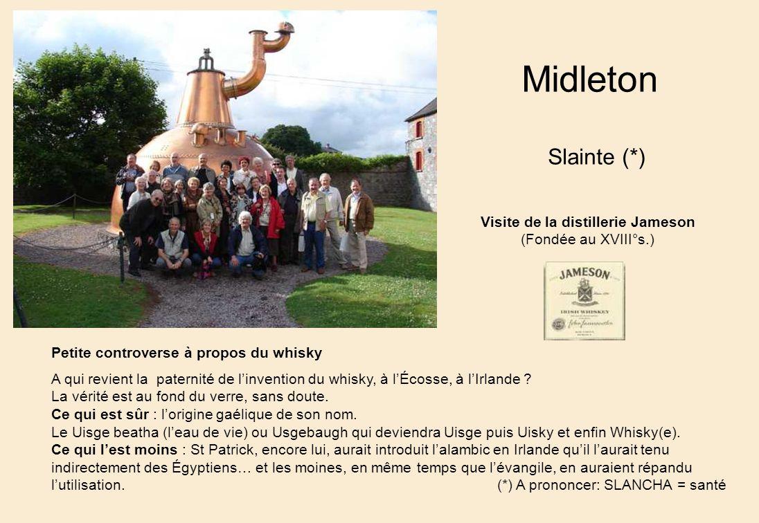 Visite de la distillerie Jameson Petite controverse à propos du whisky