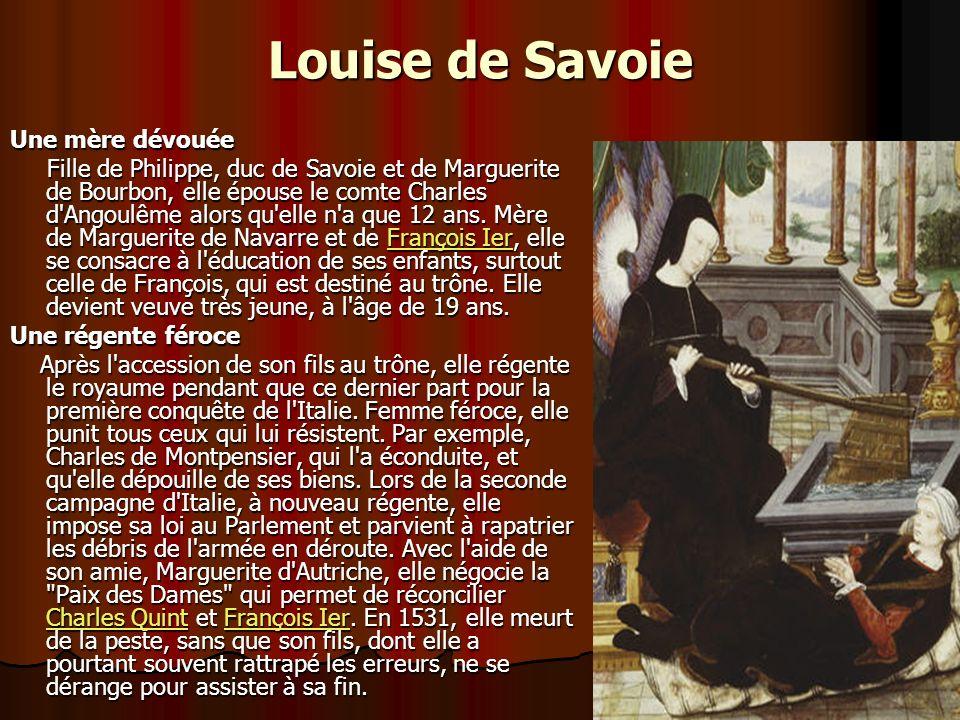 Louise de Savoie Une mère dévouée