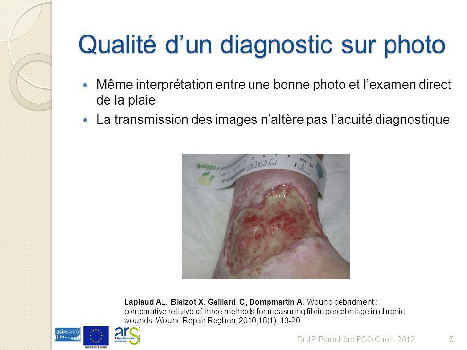 Qualité d'un diagnostic sur photo
