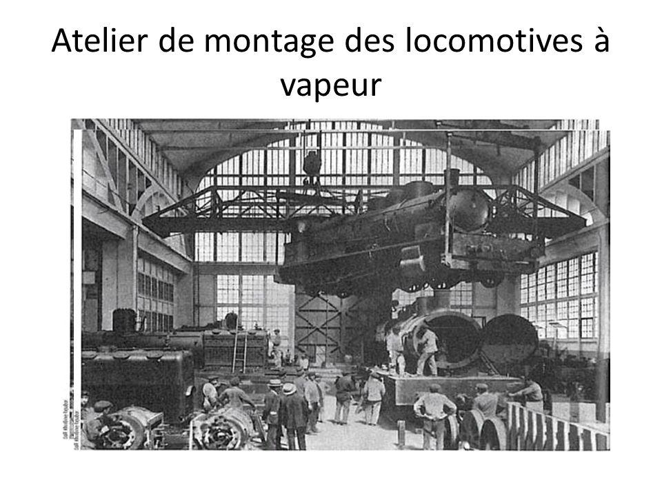 Atelier de montage des locomotives à vapeur