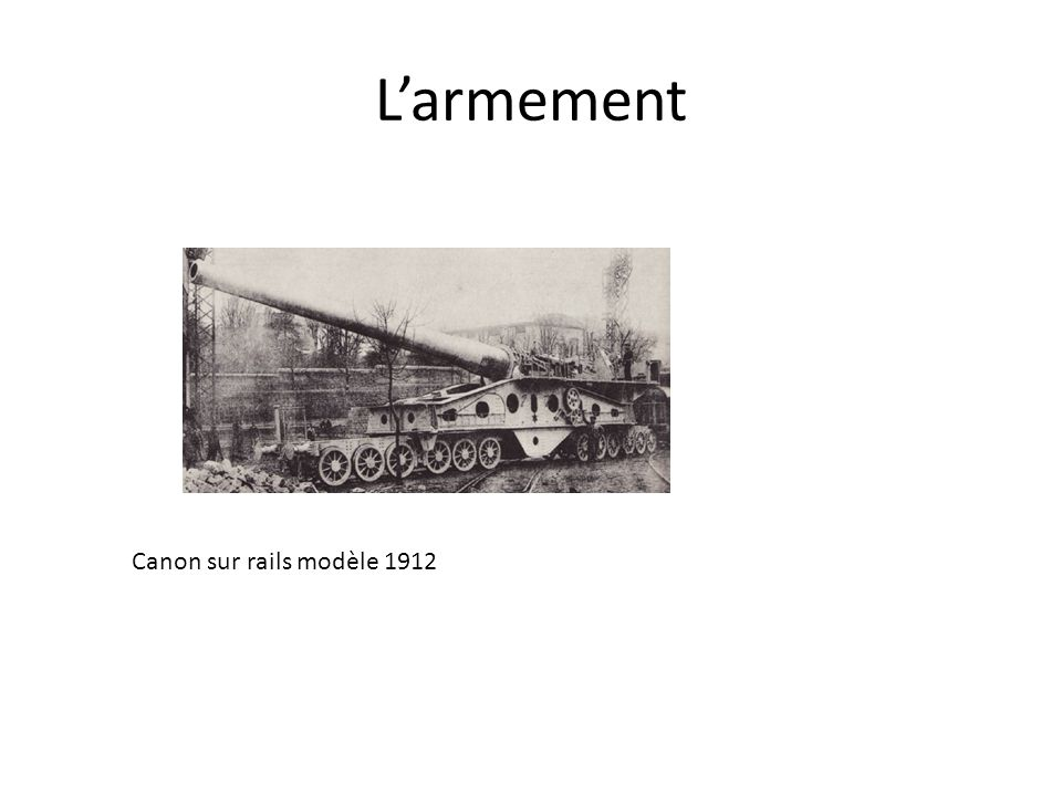 L'armement Canon sur rails modèle 1912