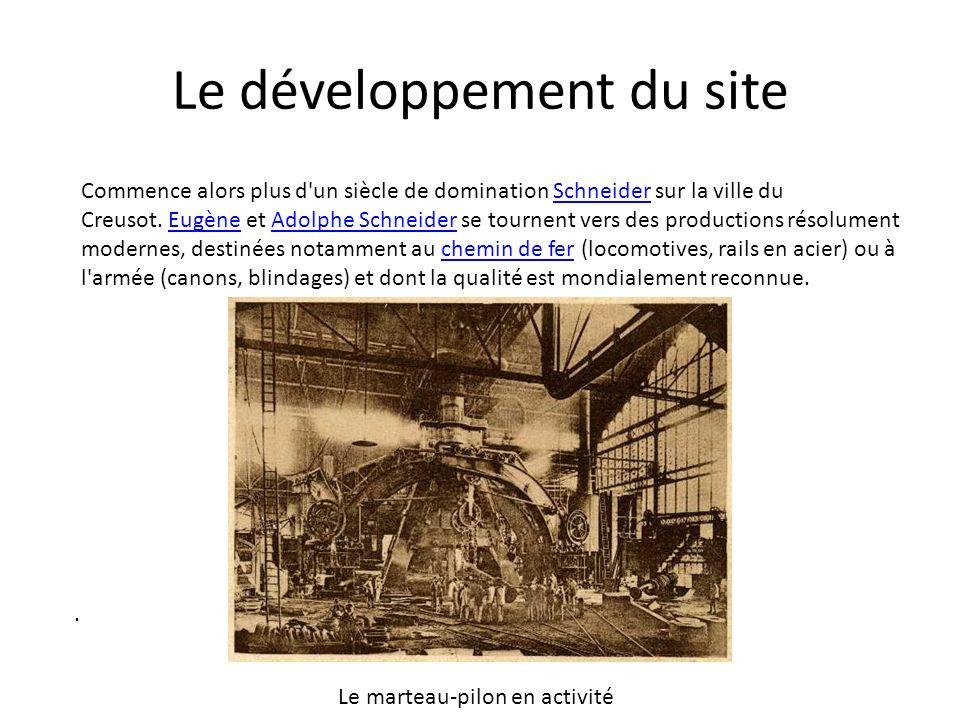 Le développement du site