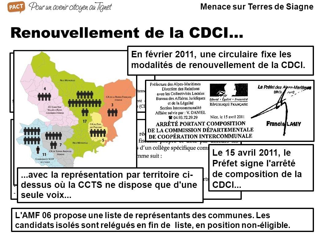Renouvellement de la CDCI...