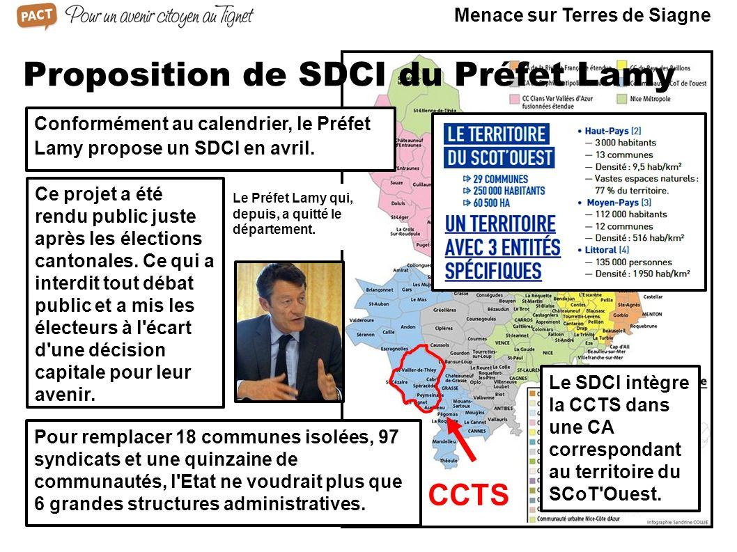 Proposition de SDCI du Préfet Lamy
