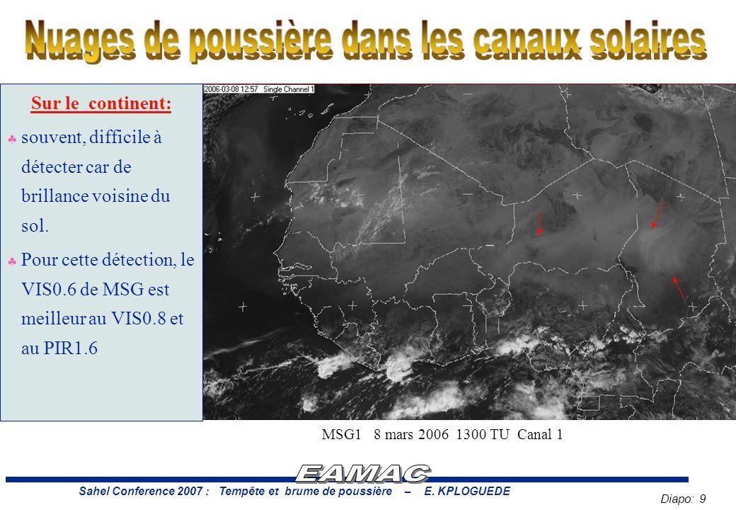 Sahel Conference 2007 : Tempête et brume de poussière – E. KPLOGUEDE