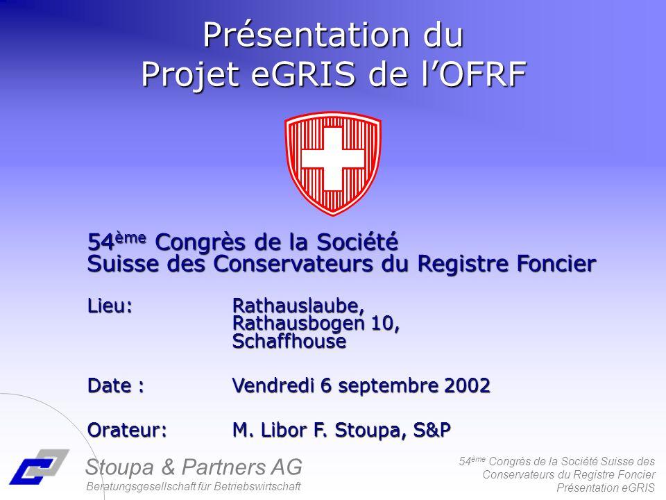 Présentation du Projet eGRIS de l'OFRF