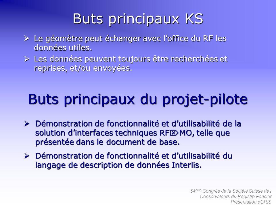 Buts principaux du projet-pilote