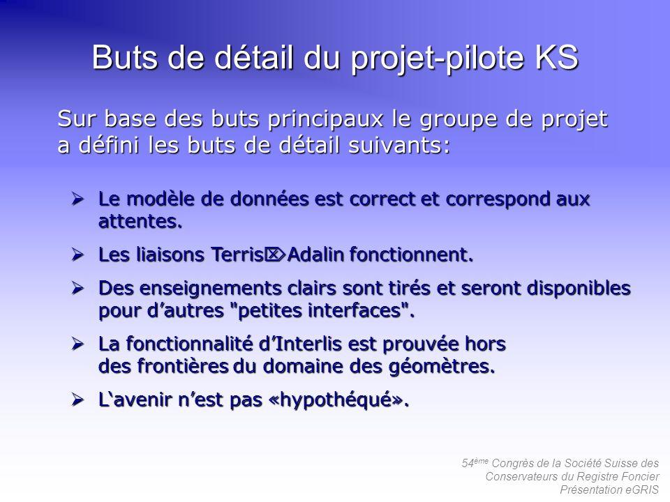 Buts de détail du projet-pilote KS