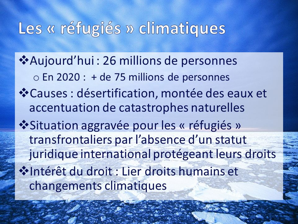 Les « réfugiés » climatiques