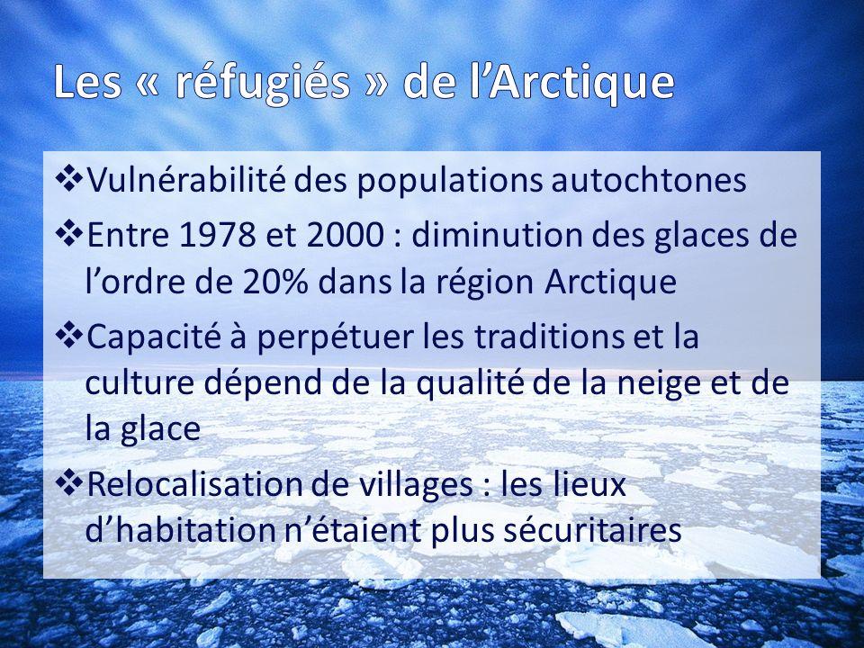 Les « réfugiés » de l'Arctique