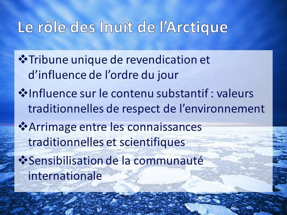 Le rôle des Inuit de l'Arctique
