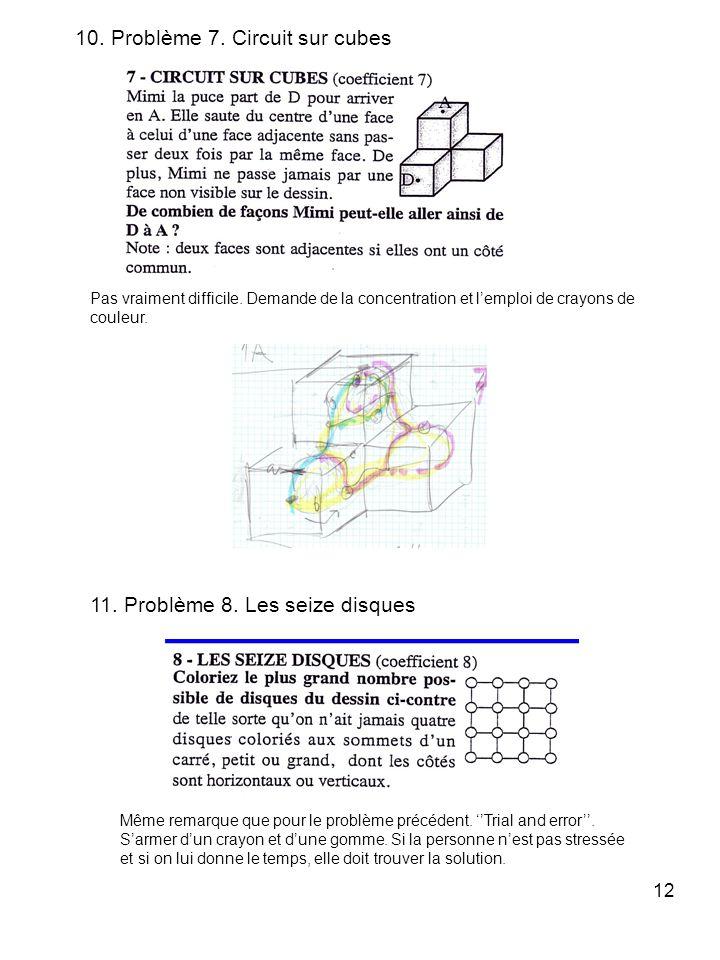 10. Problème 7. Circuit sur cubes